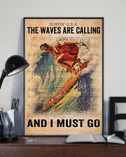 Surfing - The Waves Are Calling And I Must Go 11x17 Poster lifestyle-poster-2