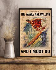 Surfing - The Waves Are Calling And I Must Go 11x17 Poster lifestyle-poster-3