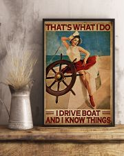 Sailor That's What I Do I Drive Boat  11x17 Poster lifestyle-poster-3