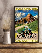 Cycling You And Me We Got This 11x17 Poster lifestyle-poster-3