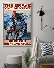 Motorcycle The Brave Don't Live Forever  11x17 Poster lifestyle-poster-1