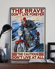 Motorcycle The Brave Don't Live Forever  11x17 Poster lifestyle-poster-2