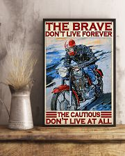 Motorcycle The Brave Don't Live Forever  11x17 Poster lifestyle-poster-3