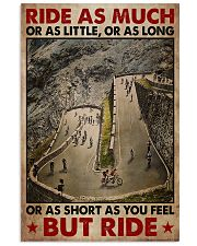 Cycling Ride As Much Or As Little 11x17 Poster front