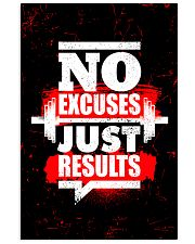 Fitness No Excuses Just Results  11x17 Poster front