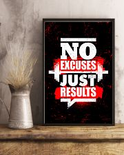 Fitness No Excuses Just Results  11x17 Poster lifestyle-poster-3