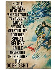 Surfing Sweat Believe Smile Get Stronger  11x17 Poster front