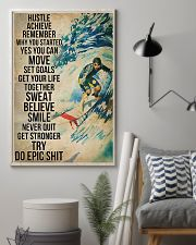 Surfing Sweat Believe Smile Get Stronger  11x17 Poster lifestyle-poster-1