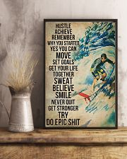 Surfing Sweat Believe Smile Get Stronger  11x17 Poster lifestyle-poster-3