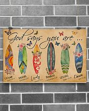 Surfing Lovers God Says You Are  17x11 Poster poster-landscape-17x11-lifestyle-18