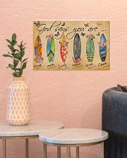 Surfing Lovers God Says You Are  17x11 Poster poster-landscape-17x11-lifestyle-21
