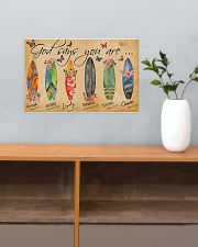 Surfing Lovers God Says You Are  17x11 Poster poster-landscape-17x11-lifestyle-24