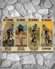 Cycling Be Strong Be Brave Be Humble 17x11 Poster aos-poster-landscape-17x11-lifestyle-13