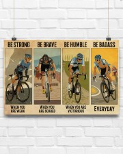 Cycling Be Strong Be Brave Be Humble 17x11 Poster aos-poster-landscape-17x11-lifestyle-17