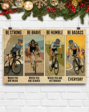 Cycling Be Strong Be Brave Be Humble 17x11 Poster aos-poster-landscape-17x11-lifestyle-28