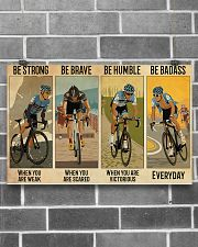 Cycling Be Strong Be Brave Be Humble 17x11 Poster poster-landscape-17x11-lifestyle-18