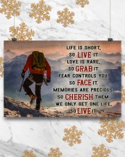 Hiking - We Only Get One Life So Live It 17x11 Poster aos-poster-landscape-17x11-lifestyle-30