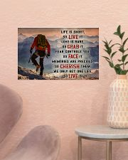 Hiking - We Only Get One Life So Live It 17x11 Poster poster-landscape-17x11-lifestyle-22