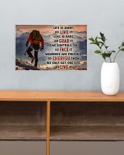 Hiking - We Only Get One Life So Live It 17x11 Poster poster-landscape-17x11-lifestyle-24