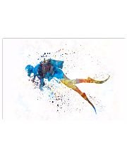 Scuba Diver Watercolor Art 17x11 Poster front