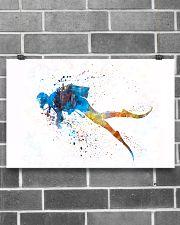 Scuba Diver Watercolor Art 17x11 Poster poster-landscape-17x11-lifestyle-18