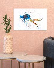 Scuba Diver Watercolor Art 17x11 Poster poster-landscape-17x11-lifestyle-21