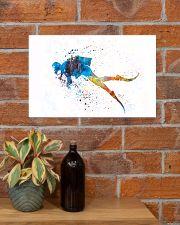 Scuba Diver Watercolor Art 17x11 Poster poster-landscape-17x11-lifestyle-23