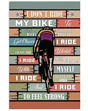 Cycling Ride My Bike 11x17 Poster front