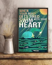 Swimming - Swim With Your Heart 11x17 Poster lifestyle-poster-3