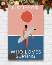 Surfing Just The Girl Who Loves Surfing  11x17 Poster aos-poster-portrait-11x17-lifestyle-23