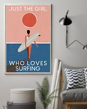 Surfing Just The Girl Who Loves Surfing  11x17 Poster lifestyle-poster-1