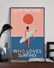 Surfing Just The Girl Who Loves Surfing  11x17 Poster lifestyle-poster-2