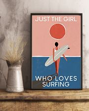 Surfing Just The Girl Who Loves Surfing  11x17 Poster lifestyle-poster-3