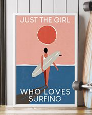 Surfing Just The Girl Who Loves Surfing  11x17 Poster lifestyle-poster-4