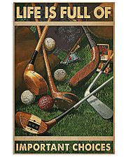 Important Choices Golf 11x17 Poster front