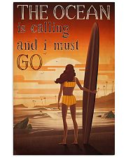 Surfing - The Ocean Is Calling And I Must Go 11x17 Poster front