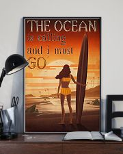 Surfing - The Ocean Is Calling And I Must Go 11x17 Poster lifestyle-poster-2