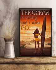 Surfing - The Ocean Is Calling And I Must Go 11x17 Poster lifestyle-poster-3