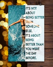 Swimmers Being Better Than You Were The Day Before 11x17 Poster aos-poster-portrait-11x17-lifestyle-24