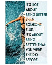 Swimmers Being Better Than You Were The Day Before 11x17 Poster front