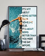 Swimmers Being Better Than You Were The Day Before 11x17 Poster lifestyle-poster-2