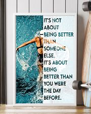 Swimmers Being Better Than You Were The Day Before 11x17 Poster lifestyle-poster-4