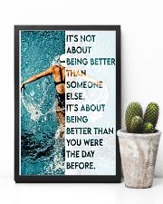 Swimmers Being Better Than You Were The Day Before 11x17 Poster lifestyle-poster-8