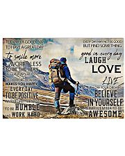 Hiking - Today Is A Good Day To Have A Great Day 17x11 Poster front