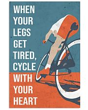 Cycle With Your Heart Cycling 11x17 Poster front