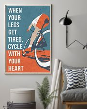 Cycle With Your Heart Cycling 11x17 Poster lifestyle-poster-1
