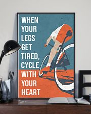Cycle With Your Heart Cycling 11x17 Poster lifestyle-poster-2