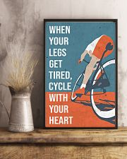 Cycle With Your Heart Cycling 11x17 Poster lifestyle-poster-3