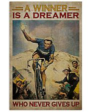 Cycling A Winner Is A Dreamer Who Never Gives Up 11x17 Poster front