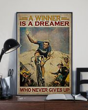 Cycling A Winner Is A Dreamer Who Never Gives Up 11x17 Poster lifestyle-poster-2